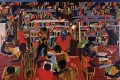 """Dream Series #5: The Library"" by Jacob Lawrence"